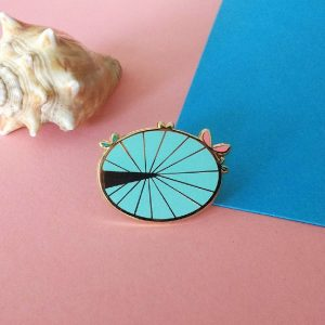 Water Lily Leaf Enamel Pin