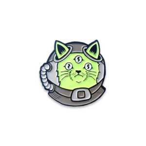 Alien Cat Enamel Pin