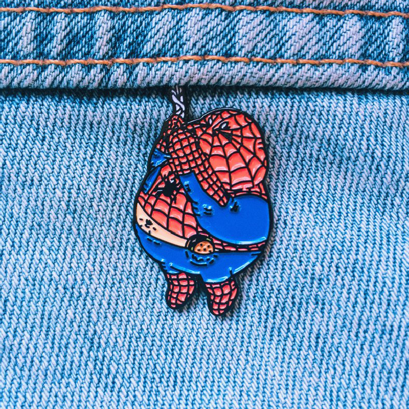 Chunky Spiderman Enamel Pin