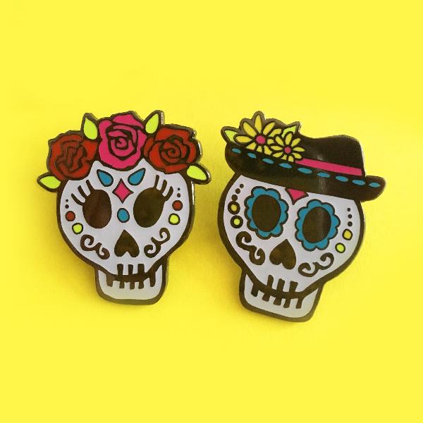 Day of the Dead Sugar Skull Enamel Pins