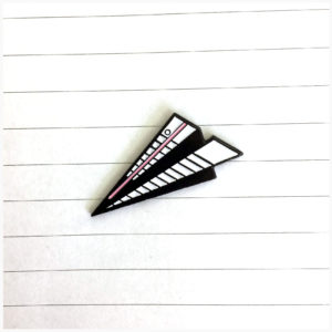 Notebook Paper Airplane Enamel Pin