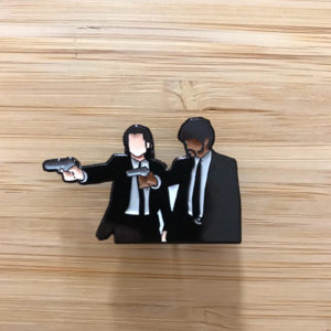 Vincent and Jules Enamel Pin