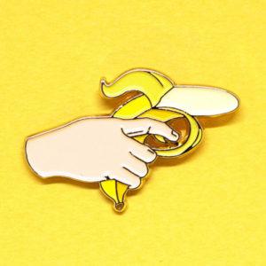 Banana Gun Enamel Pin