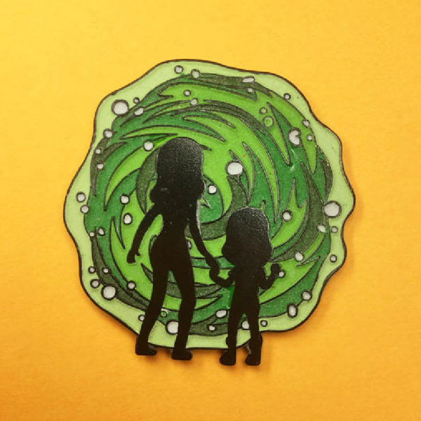 Beth and Diane Enamel Pin