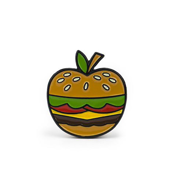 Bonita Apple Burger Enamel Pin