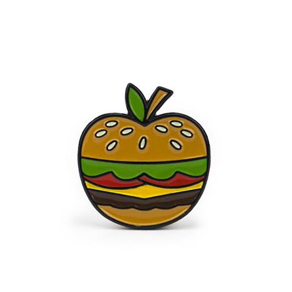 Bonita Apple Burger Enamel Pin