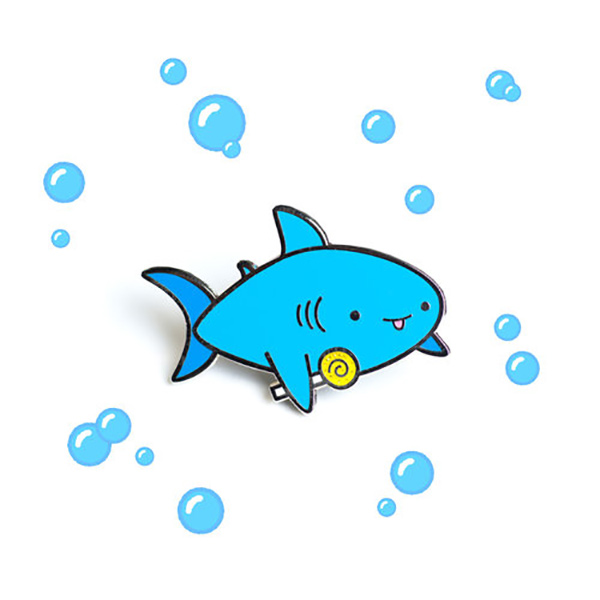 Candy Shark Enamel Pin