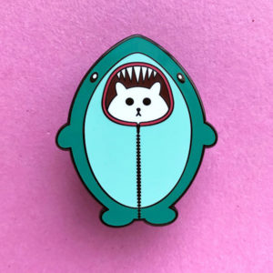 Cat Shark Enamel Pin