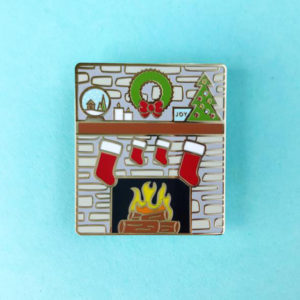 Christmas Mantle Enamel Pin