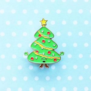 Christmas Tree Enamel Pin