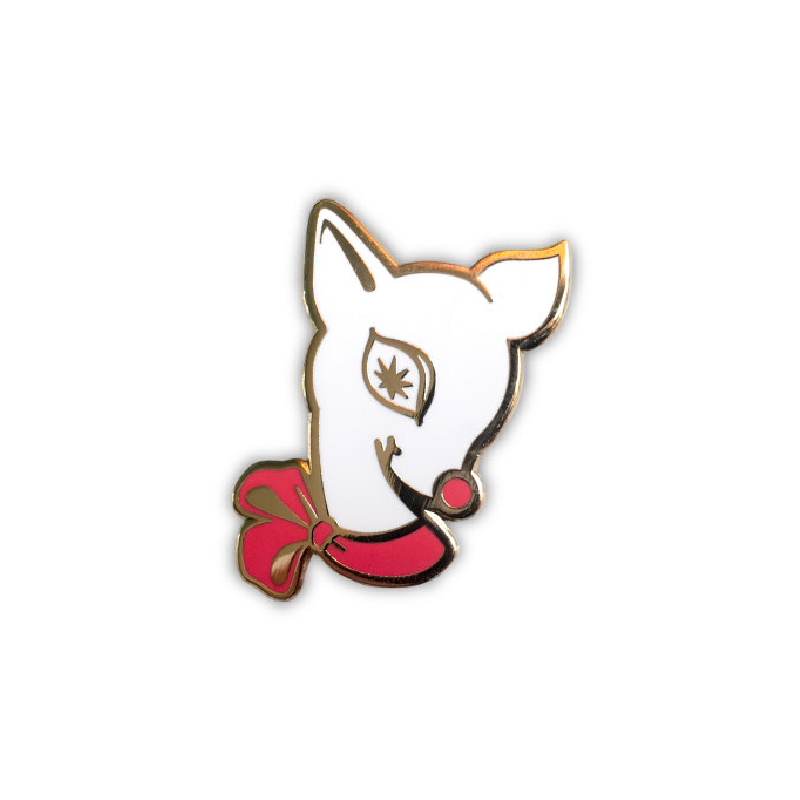 Cute Starry-Eyed Reindeer Enamel Pin