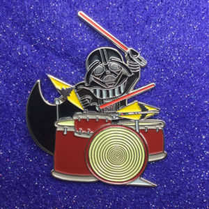 Drummin' Darth Enamel Pin