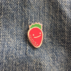 Happy Strawberry Enamel Pin