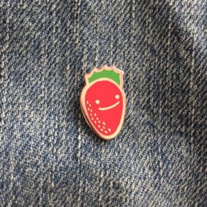 Happy Strawberry Enamel Pin