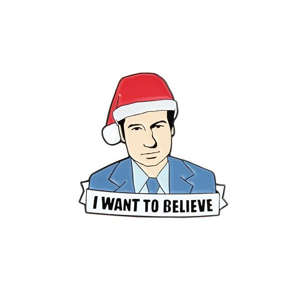 Fox Mulder I Want to Believe Enamel Pin