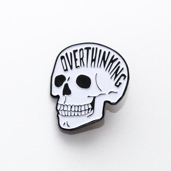 Overthinking Enamel Pin