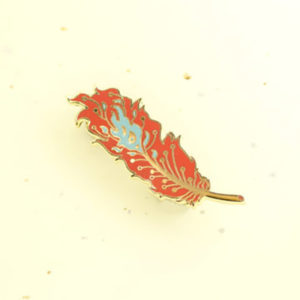 Phoenix Feather Enamel Pin