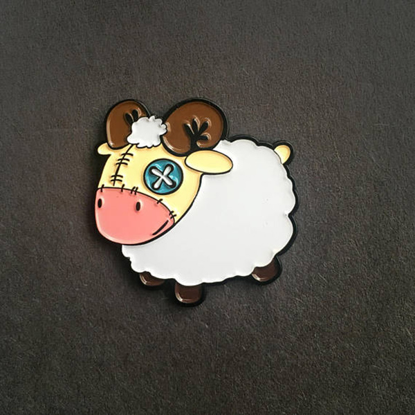 Plush Patchwork Android Sheep Enamel Pin
