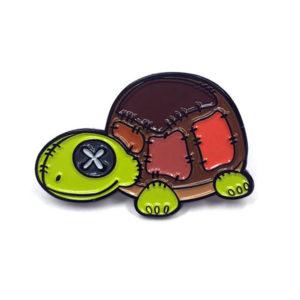 Plush Patchwork Turtle Enamel Pin