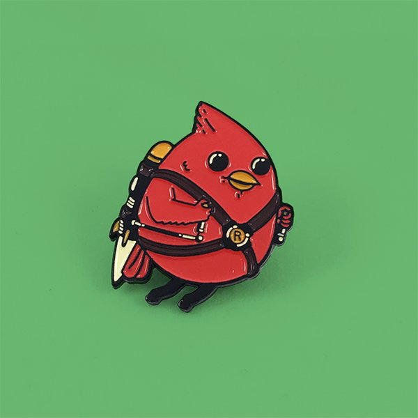 Rocket Bird Enamel Pin