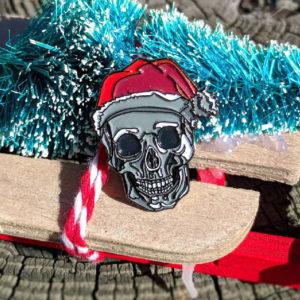 Santa Skull Enamel Pin