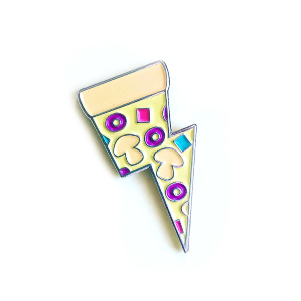 Veggie Pizza Power Enamel Pin