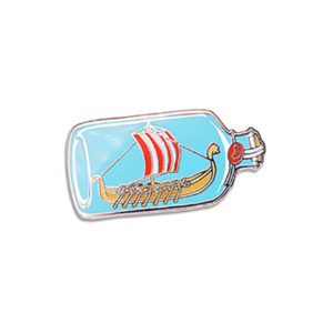 Viking Ship Enamel Pin