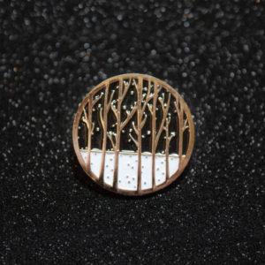 Winter Forest Enamel Pin