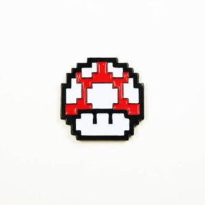 16 Bit Super Mario Bros Mushroom Enamel Pin