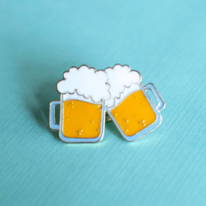 Brew For Two Enamel Pin