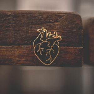 Black Heart Enamel Pin