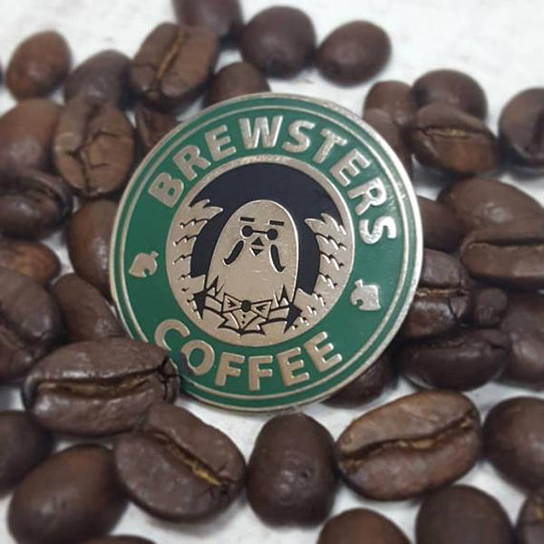 Brewster's Coffee Enamel Pin