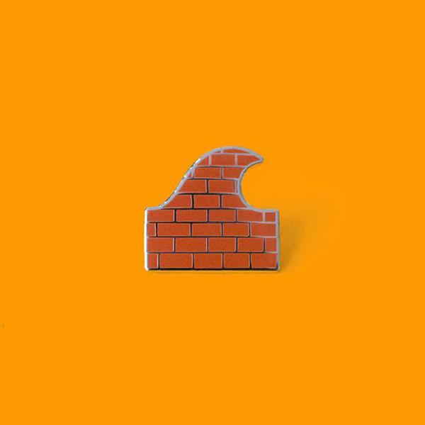 Brick Wave Enamel Pin