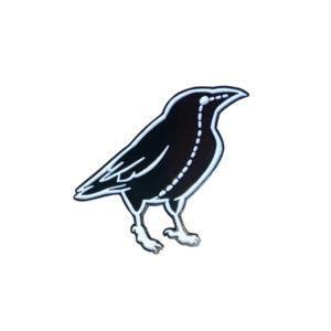 Raven Stitch Enamel Pin
