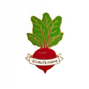 Shrute Farms Beet Enamel Pin