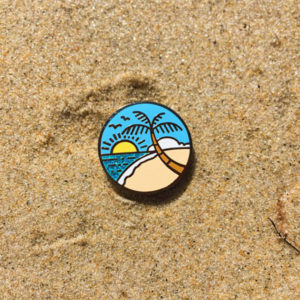 Vacation Enamel Pin