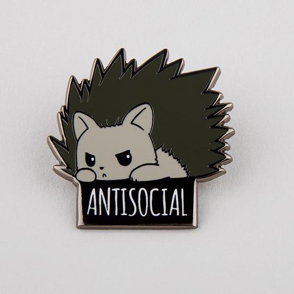 Antisocial Enamel Pin