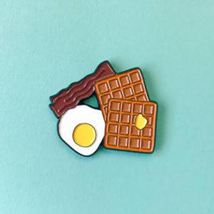 Breakfast Enamel Pin