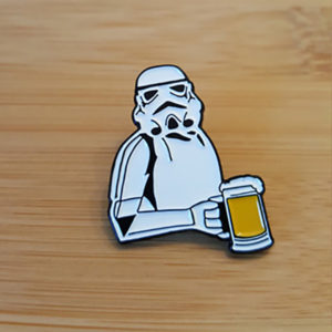 Drunk Trooper Enamel Pin