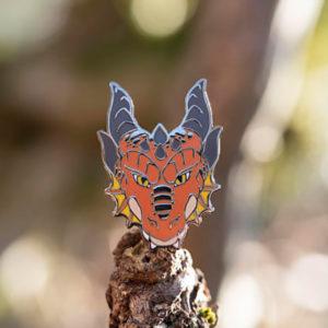 Fire Dragon Enamel Pin