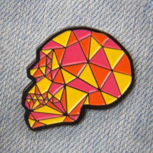 Geometric Crystal Skull Enamel Pin
