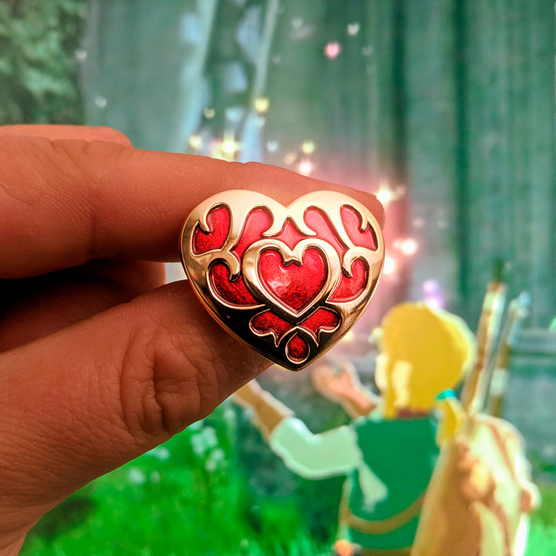 Legend of Zelda: Breath of the Wild Heart Container Enamel Pin