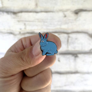 One Eyed Bunny Enamel Pin