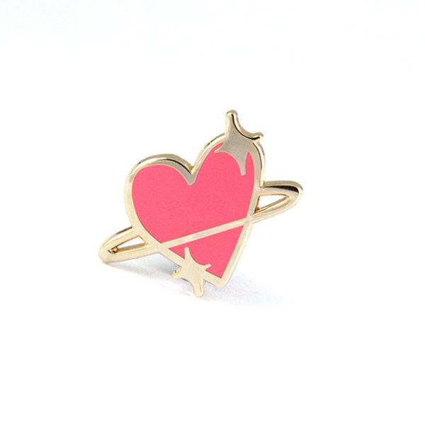 Planet Love Enamel Pin