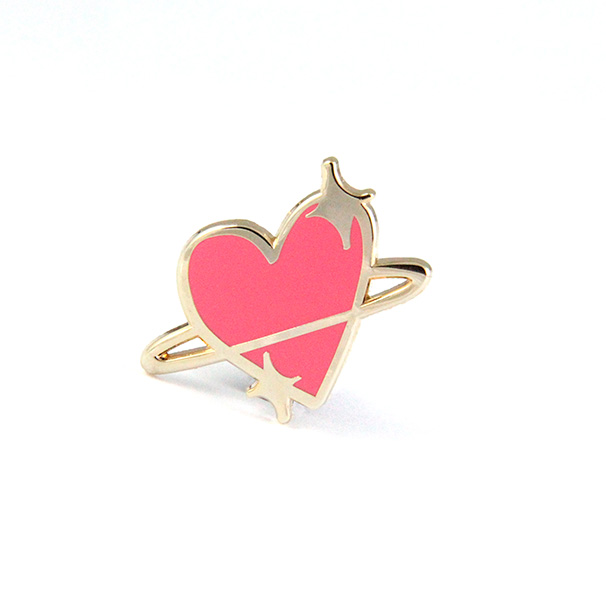 Planet Love Enamel Pin