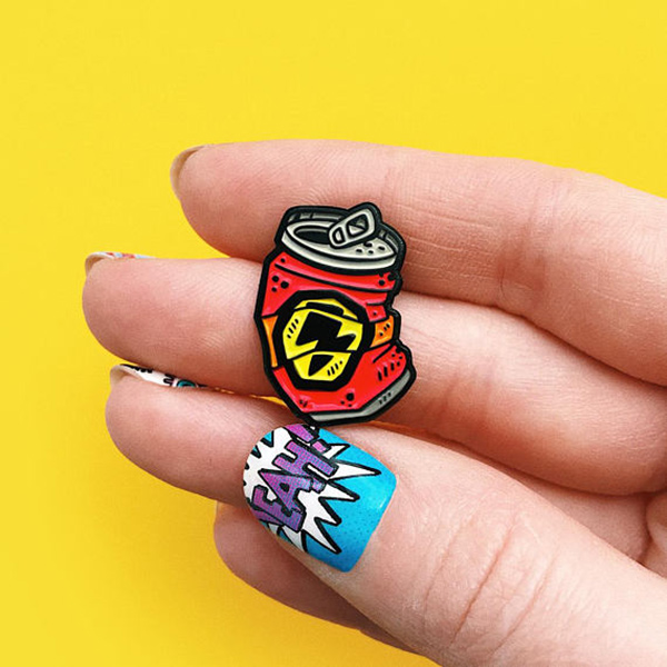 Red Can Enamel Pin