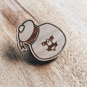 Still Puft Wooden Pin