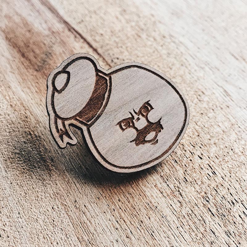 Still Puft Wooden Pin