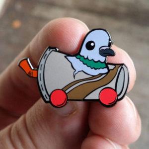 Trash Bird Enamel Pin