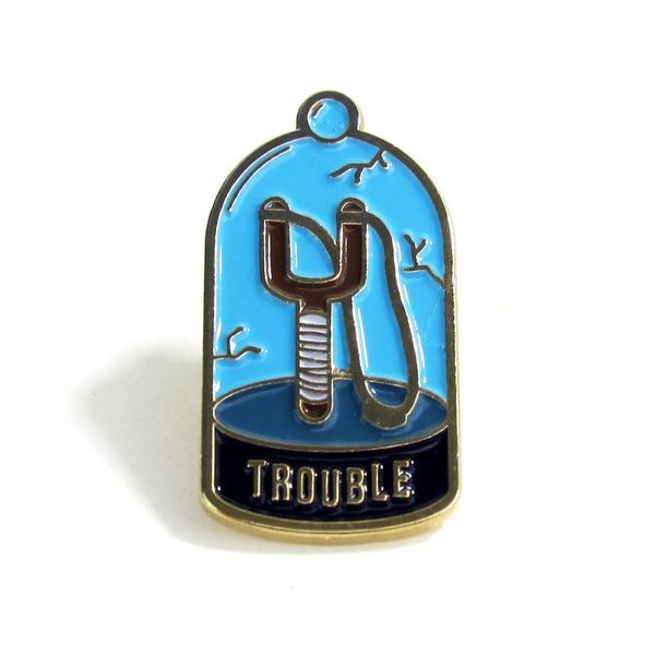 Trouble Enamel Pin
